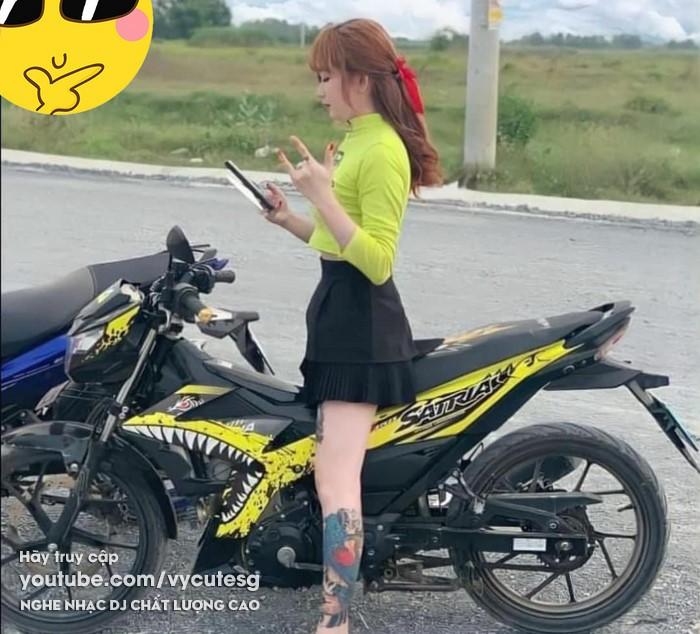 gai xinh chay Satria Raider Sonic cuc dep (8)